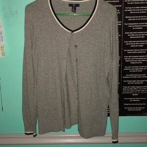 cute grey sweater from the gap